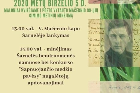 Poeto Vytauto Mačernio 99 - ųjų gimimo metinių minėjimas