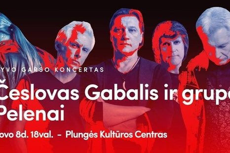 Česlovo Gabalio ir grupės Pelenai gyvo garso koncertas