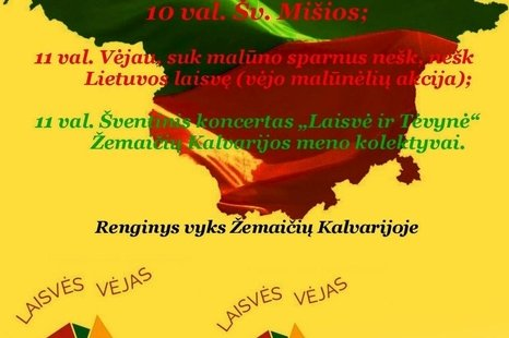 Lietuvos nepriklausomybės atkūrimo dienos paminėjimas