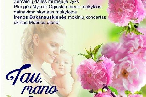 Koncertas skirtas Motinos dienai