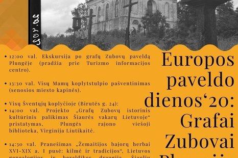 Europos paveldo dienos` 20: Grafai Zubovai Plungėje