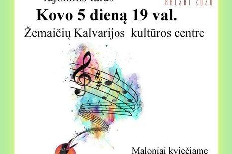 """Solistų ir vokalinių ansamblių konkursas  """"Sidabriniai balsai"""""""